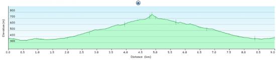 Elevation diagram - trip under Punta Maggiore and back