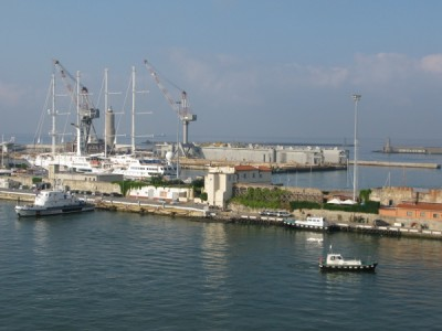 Leaving Livorno port...