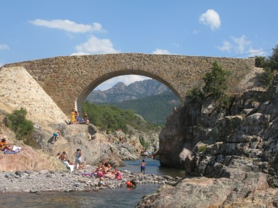 Genovese bridge over Fango river