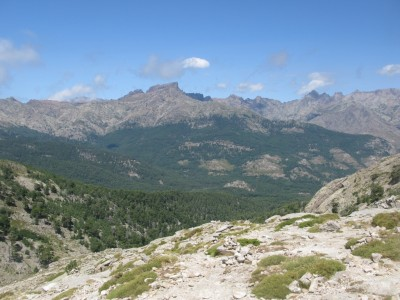 View to the valley and Paglia Orba