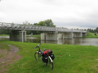 Bridge over Labe/Elbe near Valy u Přelouče