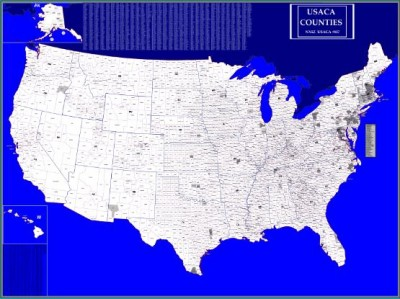 My contacted US counties (1st Jan 2010; map by NX5Z)